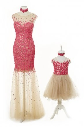 KIDS SIZE LONG HAND MADE DRESS Y6451