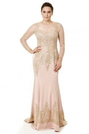Long Small Size Short Sleeve Evening Dress Y6462