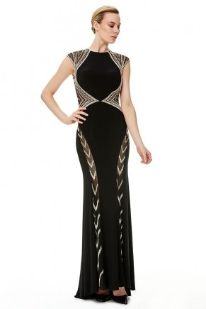 Long Small Size Bodycon Open Back Evening Dress Y6465