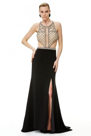Long Small Size Bodycon Slit Evening Dress Y6473