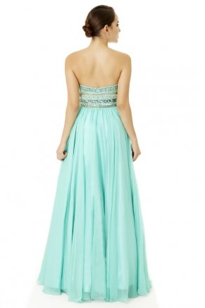 Long Small Size Strapless Flared Evening Dress Y6479