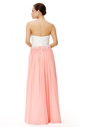 Long Small Size Strapless Flared Evening Dress Y6487
