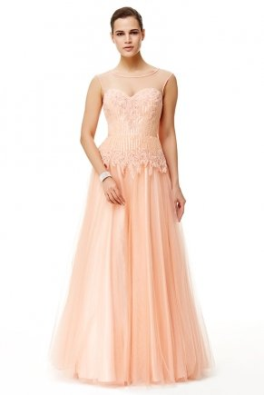 Sequin Small Size Long Sleeveless Engagement Dress Y6498