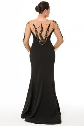 Long Big Size Long Sleeve Tailed Evening Dress K6015