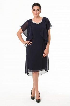 BIG SIZE SHORT DRESS K6094