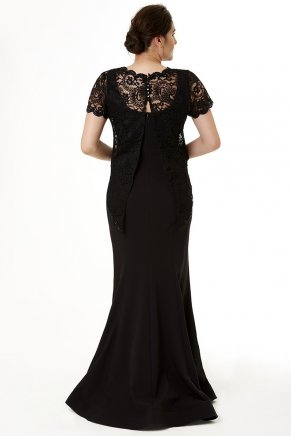 Long Big Size Tailed Non Revealing Evening Dress Y6256