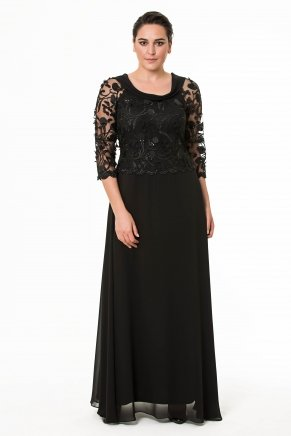 Long Big Size Crepe Evening Dress Y6405