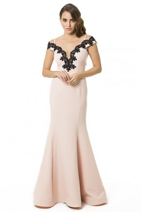 Long Small Size Sleeveless V Neck Evening Dress Y6424