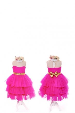 KIDS SIZE SHORT MOM & KIDS DRESS Y6426