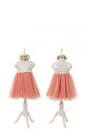 KIDS SIZE SHORT HAND MADE DRESS Y6453