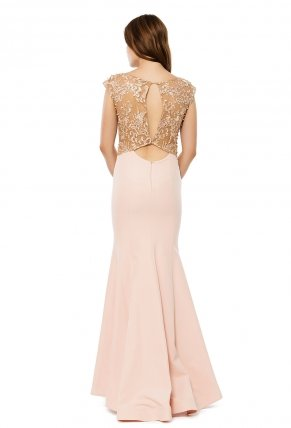 Long Small Size Sleeveless Evening Dress Y6287