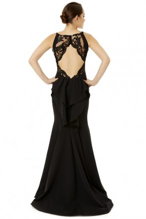 Long Small Size Sleeveless Tailed Evening Dress Y6417
