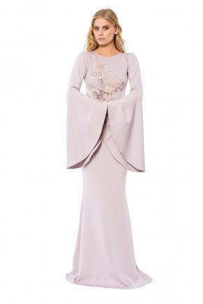 Small Sıze Long Evenıng Dress K6160