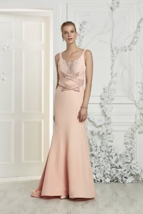 Small Sıze Long Evenıng Dress Y7019