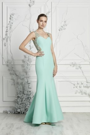 Mermaid Small Size Long Sleeveless Engagement Dress Y7059
