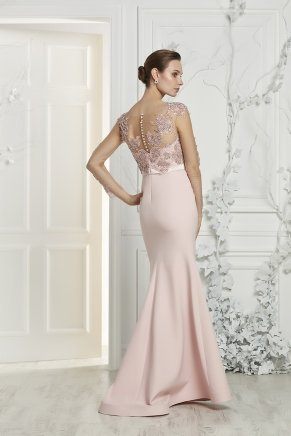 Mermaid Small Size Long Crepe Engagement Dress Y7372