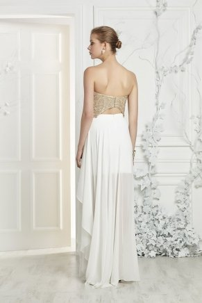 Strapless Crepe Small Size Long Evening Dress Y7381