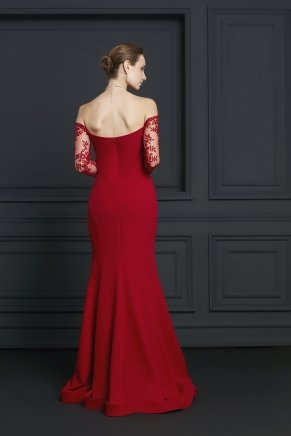 Strapless Crepe Small Size Long Evening Dress Y7404