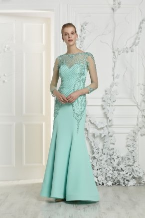 Small Sıze Long Evenıng Dress Y7413