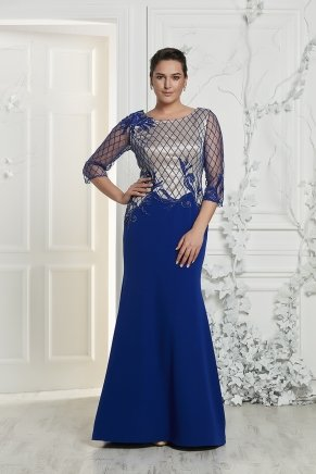 Bıg Sıze Long Slım Smıle Dress Y7422