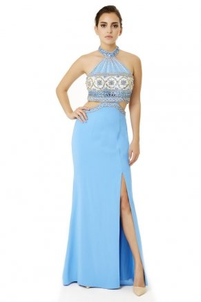 Long Small Size Bodycon Crepe Evening Dress Y6478