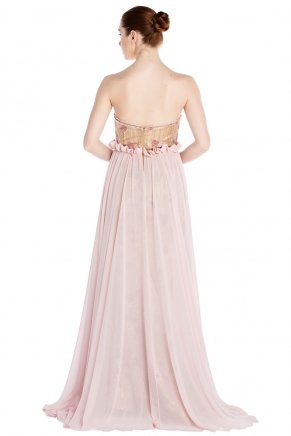 Strapless Small Size Long Sleeveless Evening Dress Y7269