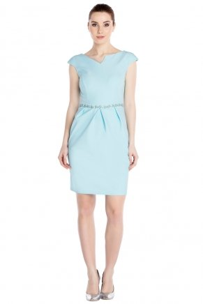 Powder Blue Small Size Short Bodycon Engagement Dress Y7303