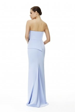 Lavender Lılac Strapless Small Size Long Evening Dress Y6149