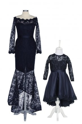 KIDS SIZE LONG MOM & KIDS DRESS Y7524