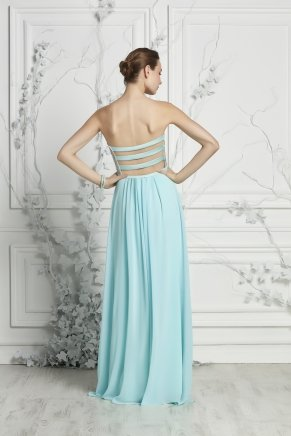 Long Taffeta Small Size Sleeveless Evening Dress Y7061