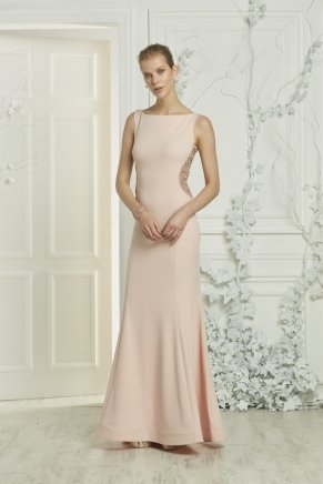 Crepe Small Size Long Engagement Dress Y7351