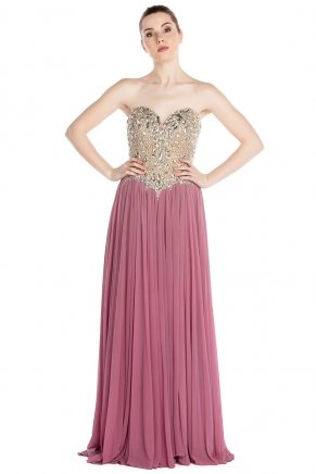 Strapless Small Size Long Sleeveless Evening Dress Y7633