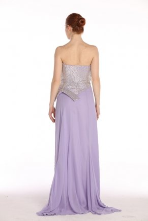 Strapless Small Size Long Sleeveless Evening Dress Y7695