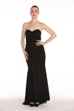 Strapless Small Size Long Bodycon Evening Dress Y7698