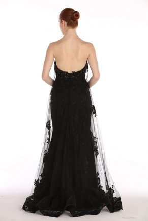 Strapless Small Size Long Tulle Evening Dress Y7700