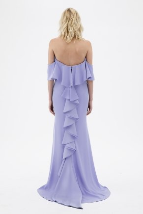 Lavender Lılac Strapless Small Size Long Evening Dress Y7235