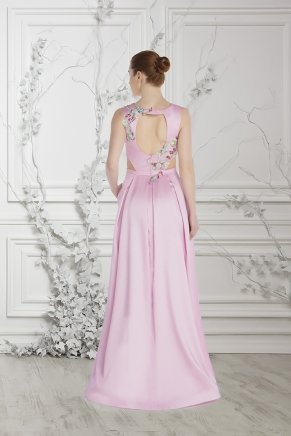 Last Pınk Small Size Long Evening Dress Y7545