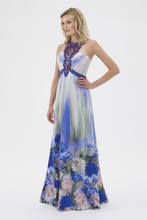 SMALL SIZE LONG EVENING DRESS Y7541