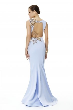 Lavender Lılac Small Size Long Evening Dress Y6325