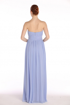 Lavender Lılac Strapless Small Size Long Evening Dress Y7344