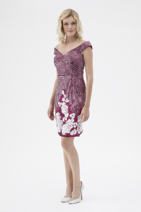 Cherry Small Size Short Evening Dress K7516