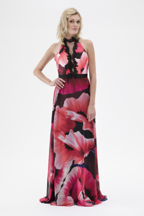 Red Small Size Long Evening Dress Y7726