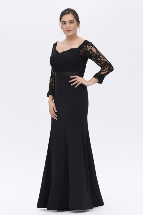 Bıg Sıze Long Slım Smıle Dress K6136