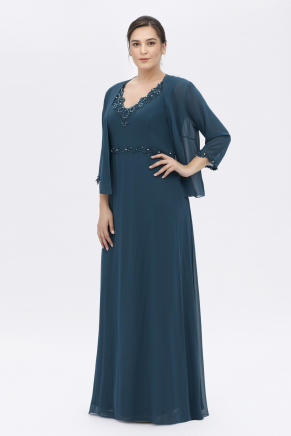 BIG SIZE LONG DRESS Y6115