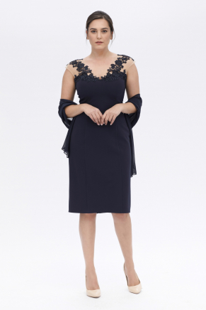 Big Size Dark Blue Evening Dresses | Alchera.com