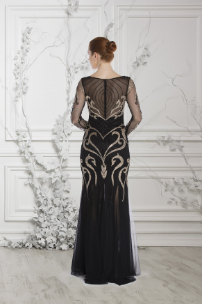 Whıte Small Size Long Evening Dress Y7280