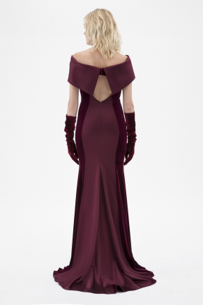 Cherry Small Size Long Evening Dress K7824