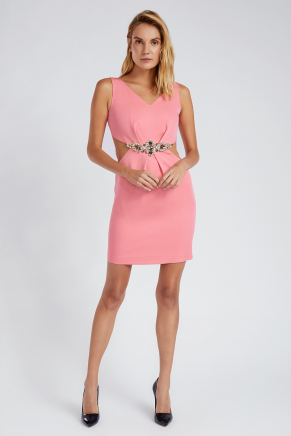 Small Sıze Short Evenıng Dress Y7302