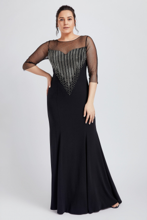BIG SIZE LONG EVENING DRESS Y8529