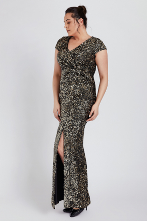 BIG SIZE LONG EVENING DRESS K8980